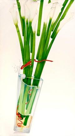Cala Lilies / watercolor