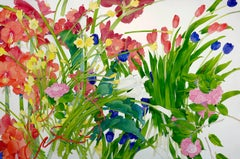 Spring Composition / large watercolor - 40 x 60 inches