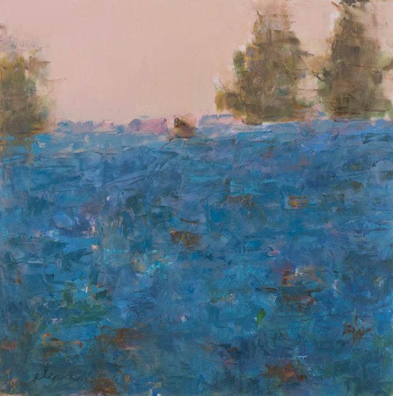 Landscape: Blueberry Hill / oil painting - contemporary