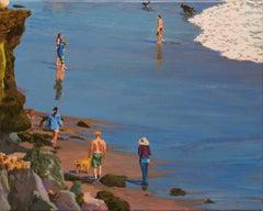 Dog Day / figurative beach scene with dogs