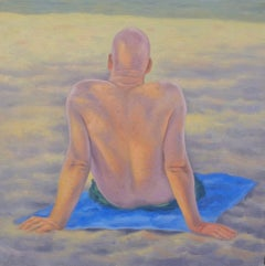 Bald Headed Man - oil on canvas