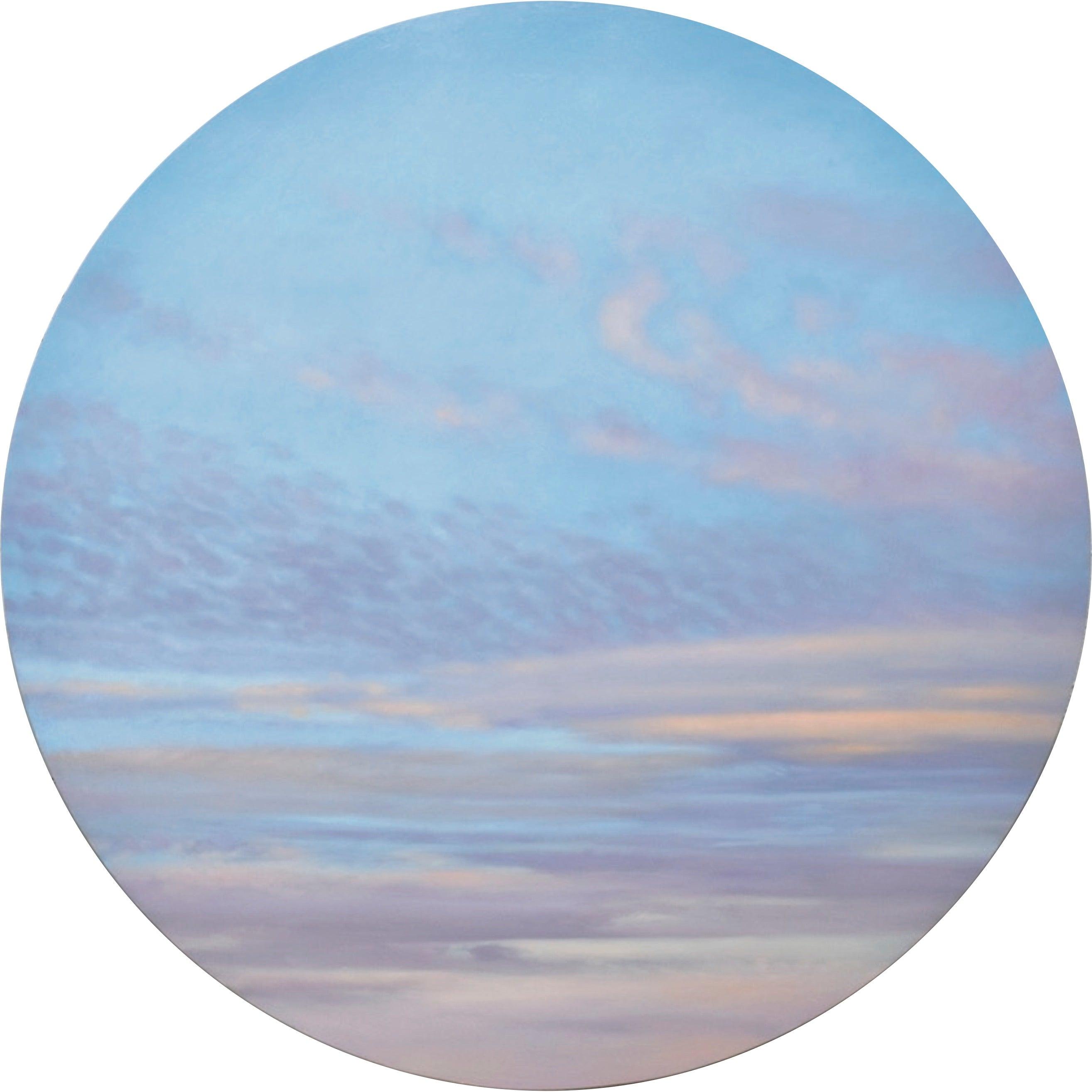 Luminous Sky - circular sky oil painting