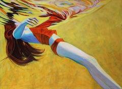 """Gold"" - Underwater Figurative Painting"