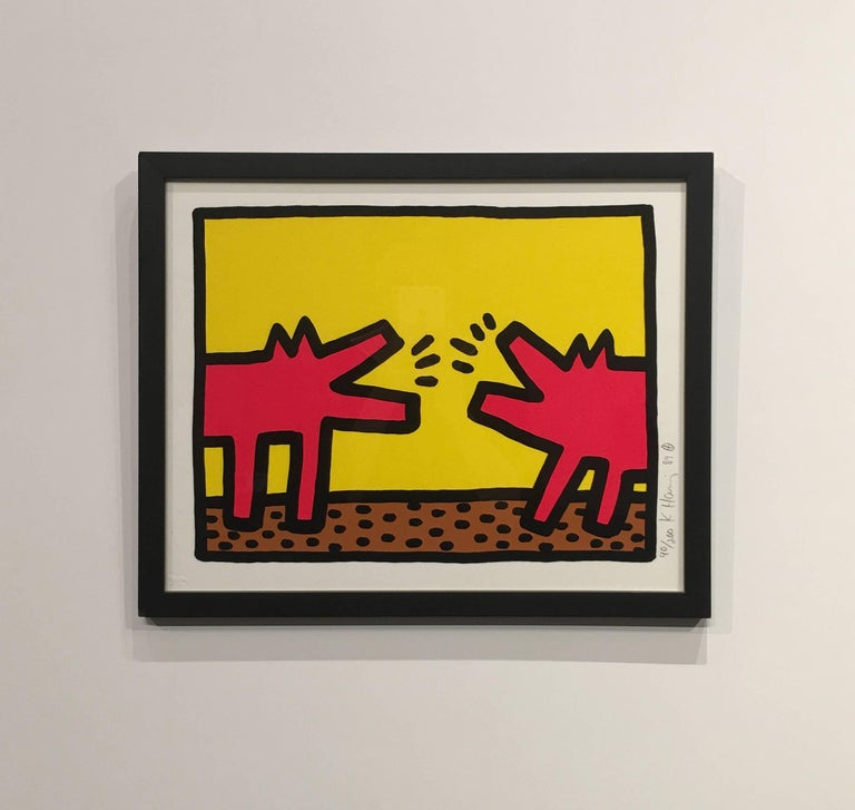 Barking Dogs - Print by Keith Haring