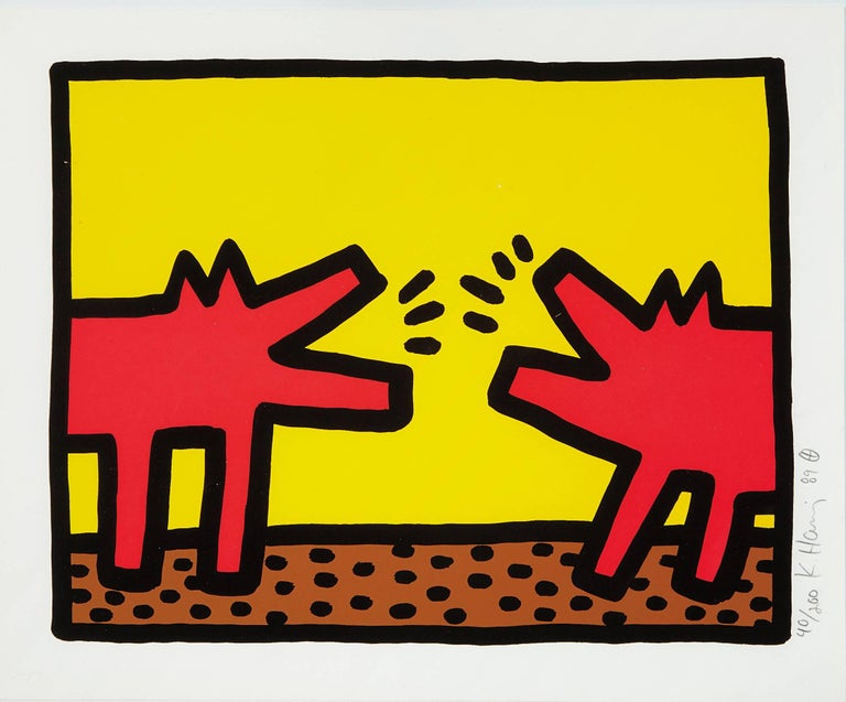 Keith Haring Animal Print - Barking Dogs