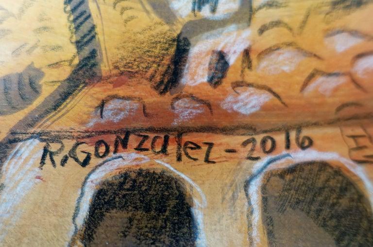 Pueblo - Painting by Raymundo González