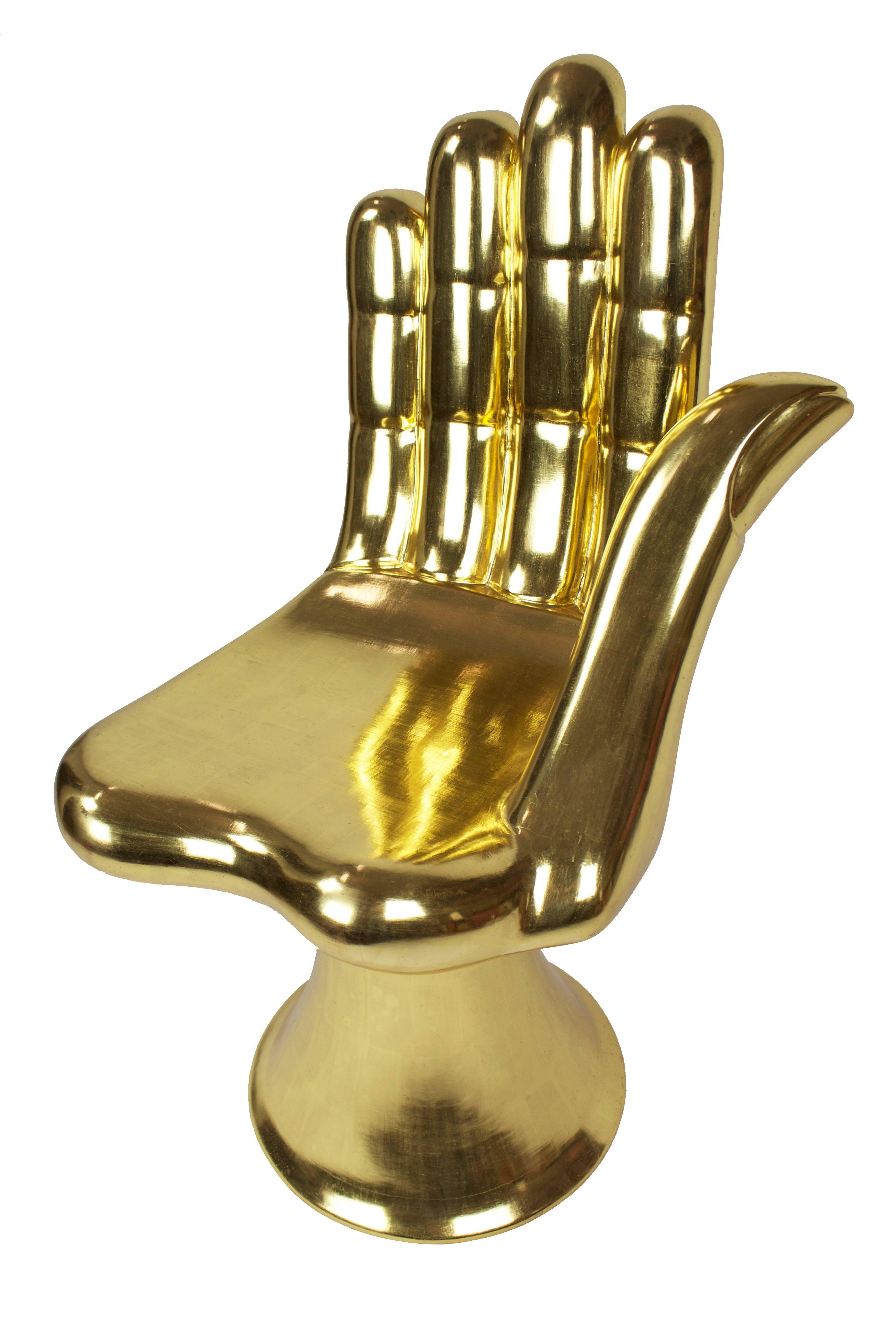 Pedro Friedeberg - Gold Hand Chair, Sculpture at 1stdibs