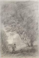Paysage, Verso: Landscape study