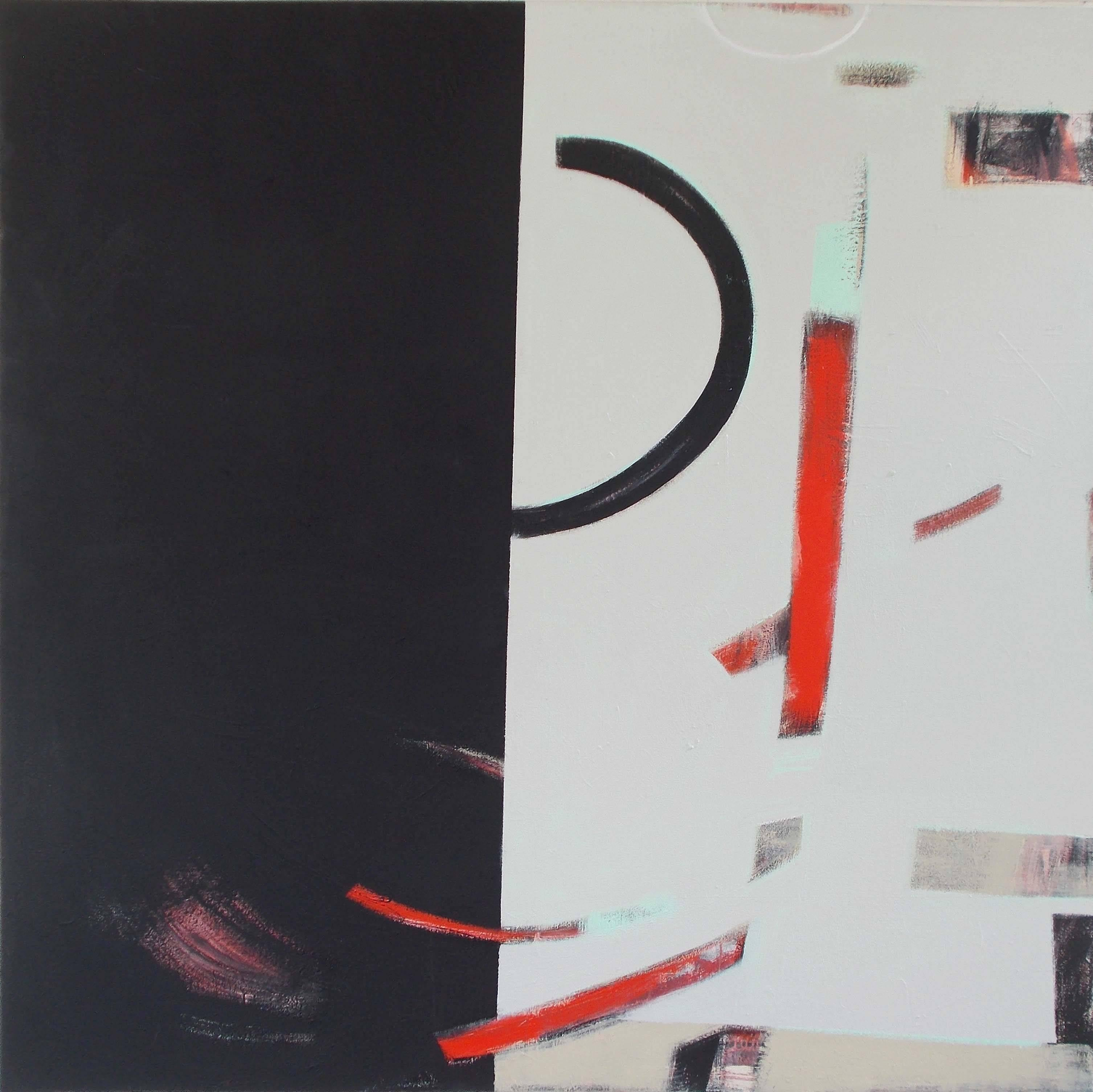 Dichotomy- Large Abstract Black and Red Original Abstract Painting