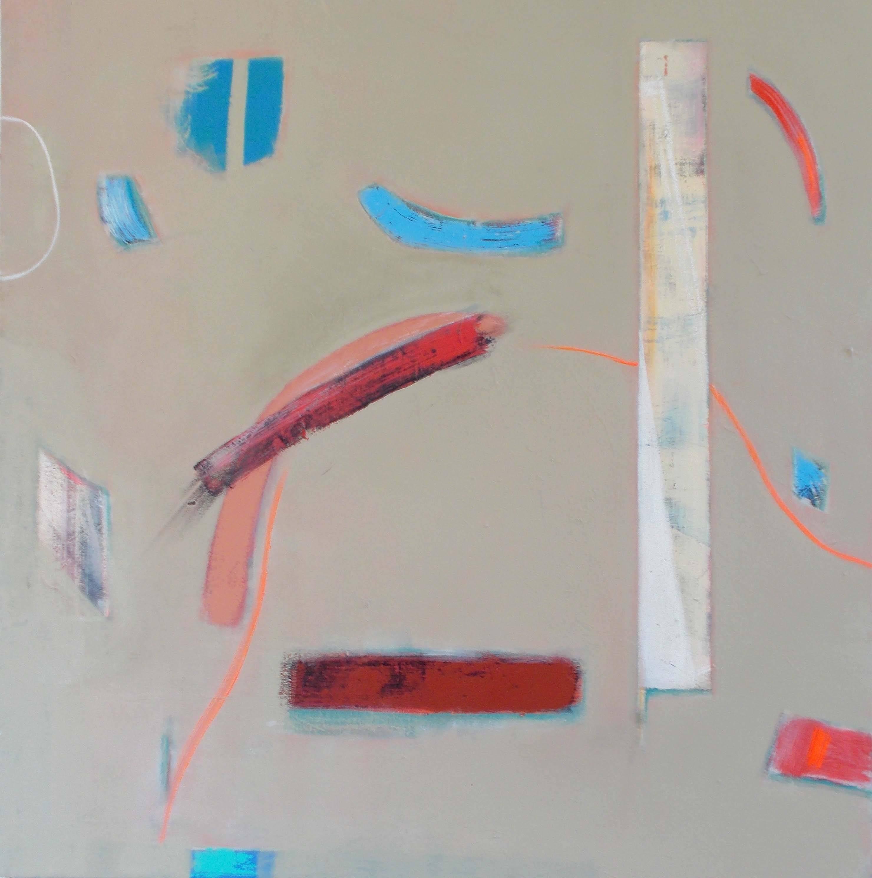 Three Monoliths Michael Moon abstract original on canvas