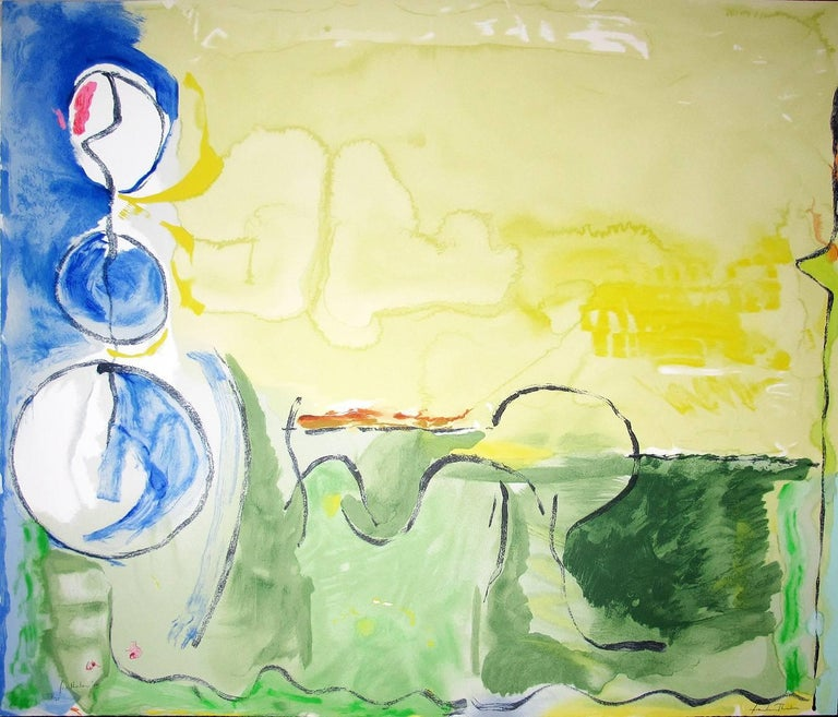 Helen Frankenthaler Abstract Print - Flotilla