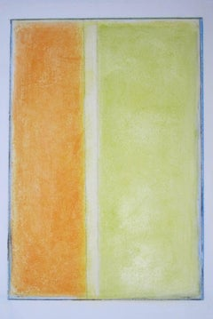 #39 April 2017 Original Oil Abstract Orange Green Contemporary