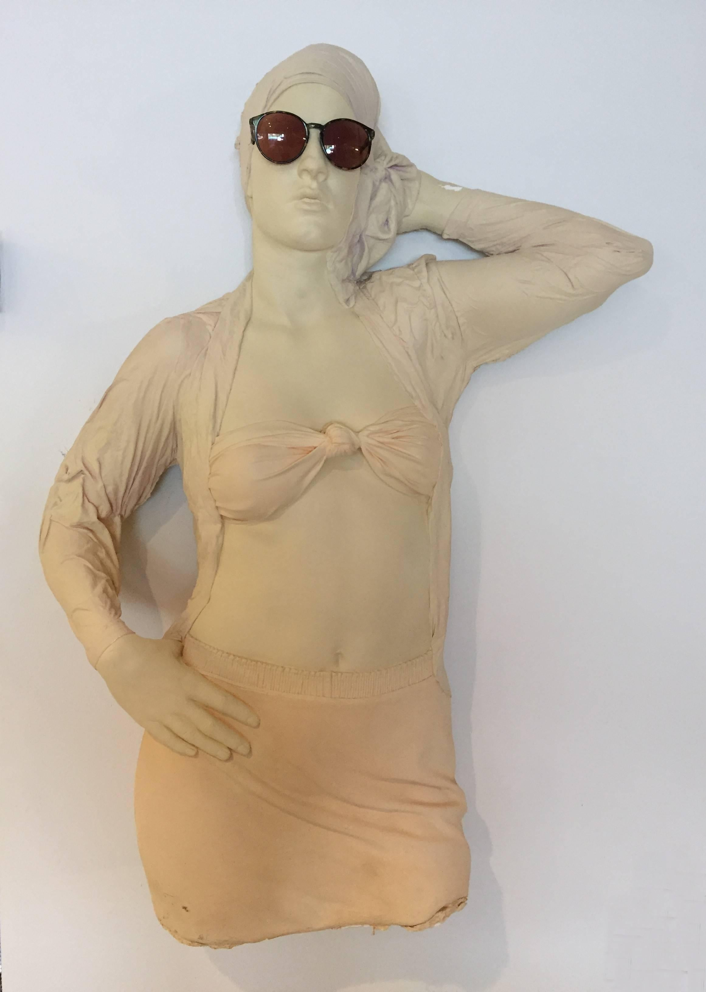 Girl with Glasses Mark Sijan lifelike ceramic sculpture
