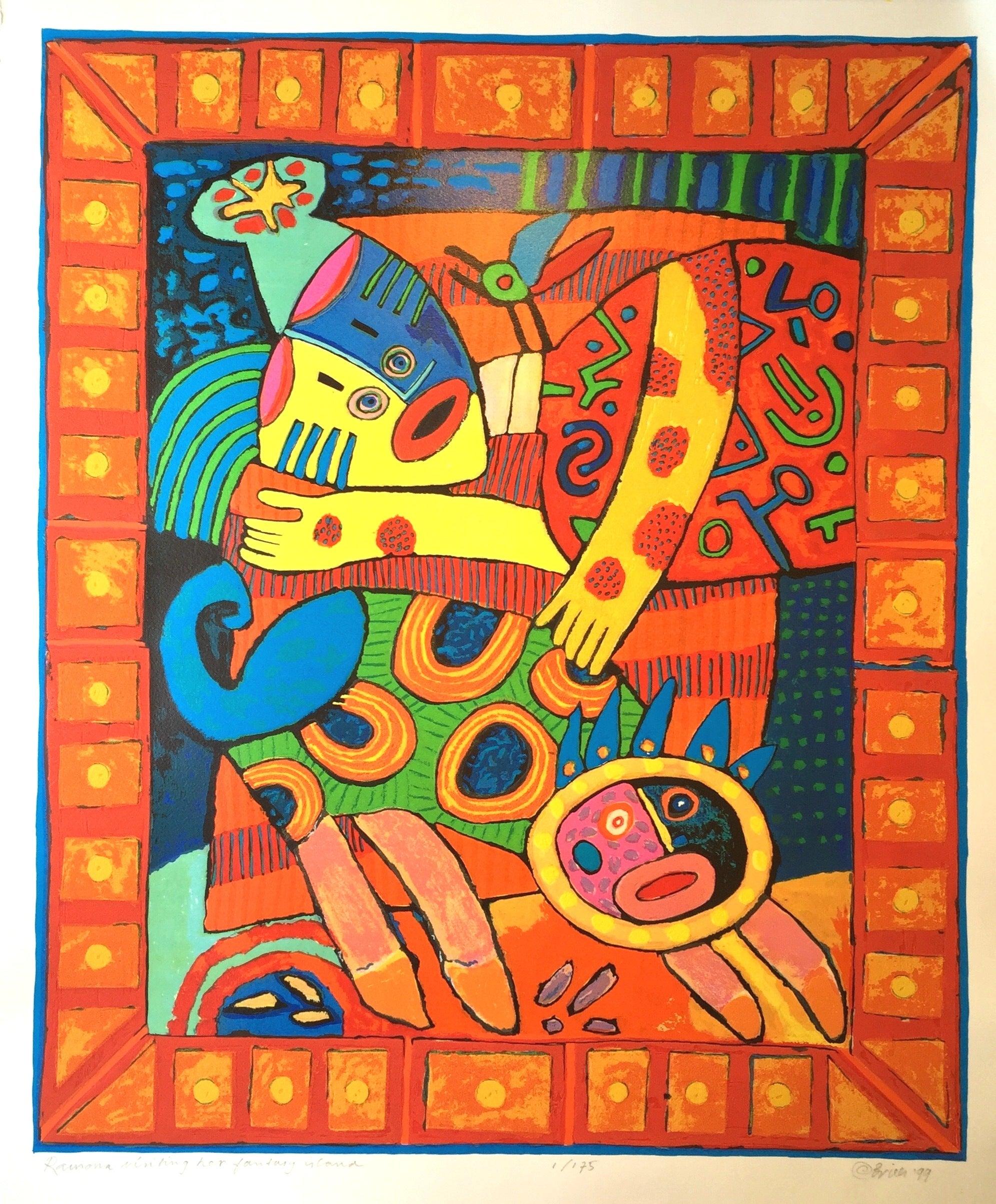 "BARNETT NEWMAN Canto VIII 23.5/"" x 19.5/"" Poster 1998 Abstract Blue"