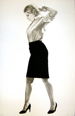 Cindy, 2002, Robert Longo Portrait of Cindy Sherman, figurative, realism