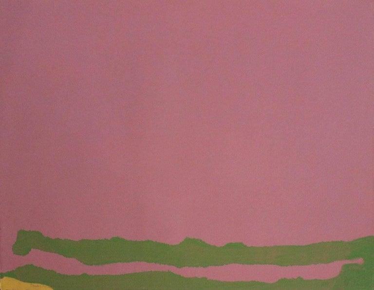Helen Frankenthaler Green Likes Mauve, Abstract, Modern, Contemporary, 1970 - Print by Helen Frankenthaler