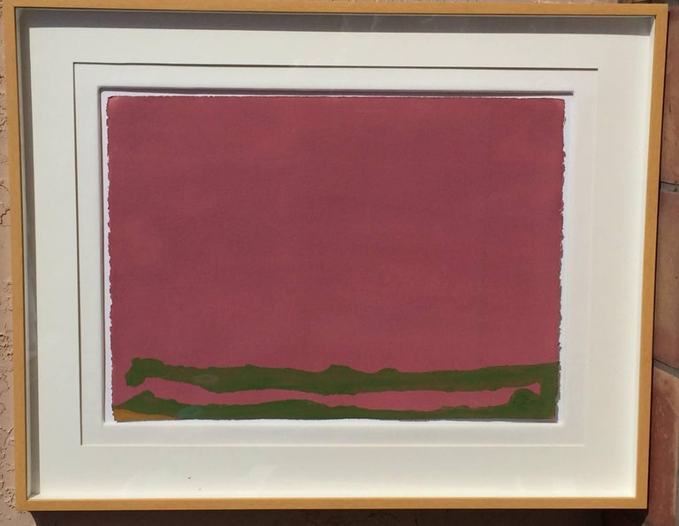 Green Likes Mauve - Abstract Print by Helen Frankenthaler