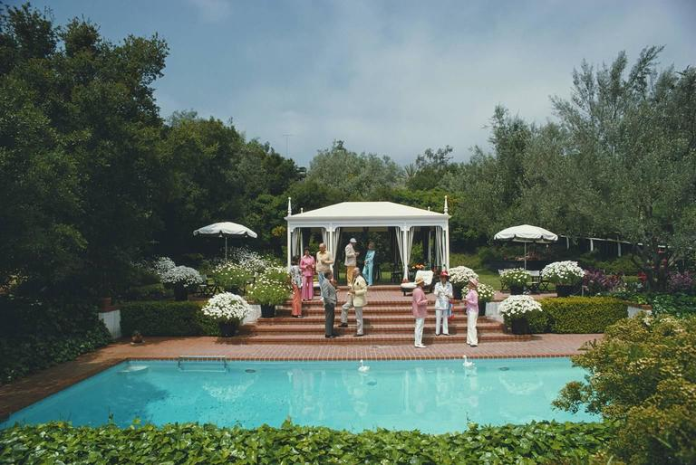'California Garden Party' 1975  (Perspex face mounted Aluminium Dibond) - Photograph by Slim Aarons