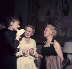 'Hepburn And Friends' 1953 (Slim Aarons C Type Print)