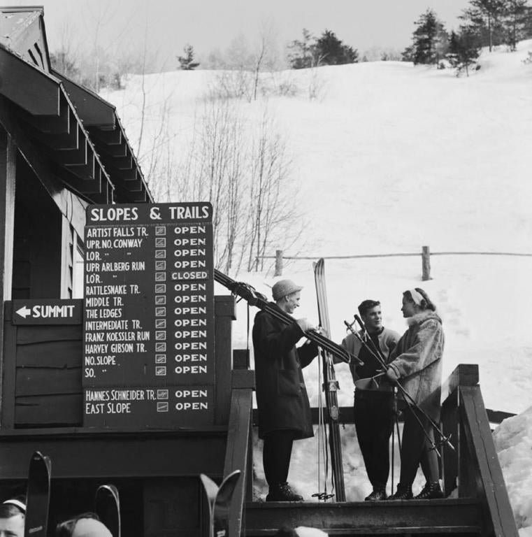 Slim Aarons 39 Three Skiers 39 New Hampshire Estate Stamped