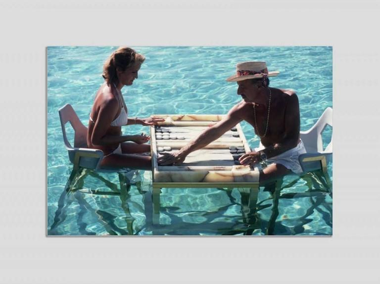 Slim Aarons Color Photograph - 'Keep Your Cool' Acapulco   (Perspex face mounted Aluminium Dibond)