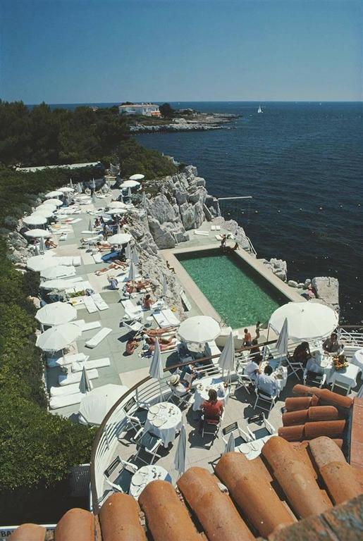 Slim Aarons Color Photograph Hotel Du Cap Eden Roc Antibes