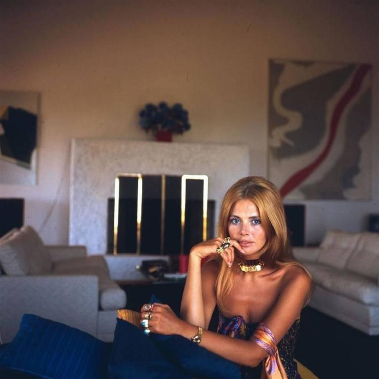 'Britt Ekland' Slim Aarons Estate Edition - Photograph by Slim Aarons