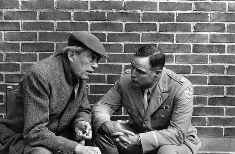 'Director John Huston & Marlon Brando On Set' (Limited Edition)