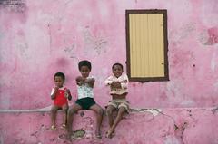 'Curacao Children' Antilles 1979  (Estate Stamped Edition)