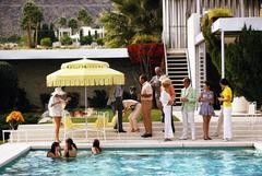 'Poolside Party' Palm Springs (Estate Stamped Edition)