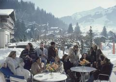 Slim Aarons - 'Drinks At Gstaad' (Estate Stamped Edition)