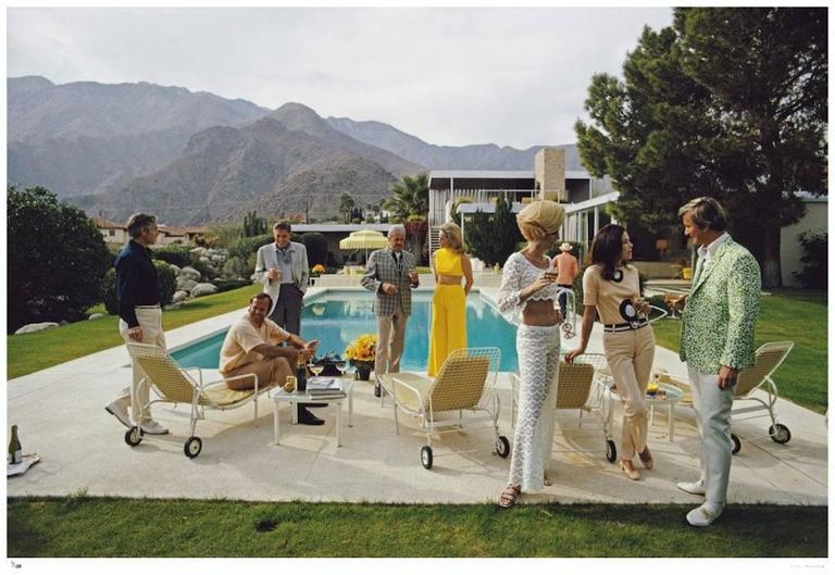 'Desert House Party' Palm Springs (Slim Aarons Estate Print) - Modern Photograph by Slim Aarons