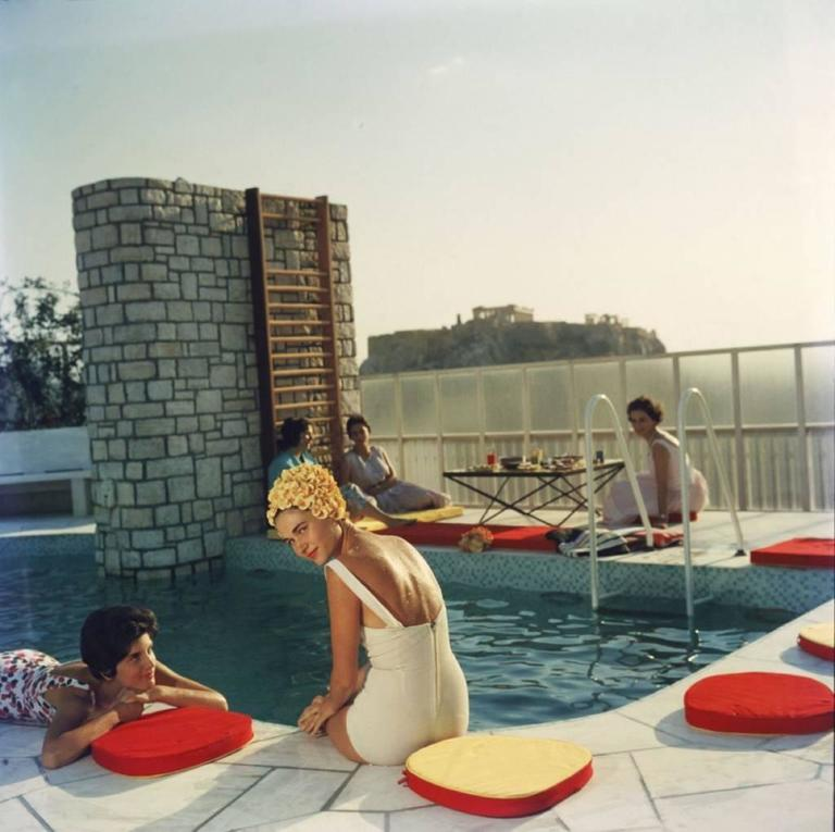 'Penthouse Pool' Athens (Slim Aarons Estate Edition) - Photograph by Slim Aarons