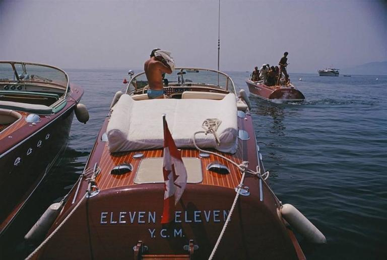 'Motorboats In Antibes' (Slim Aarons Estate Edition)