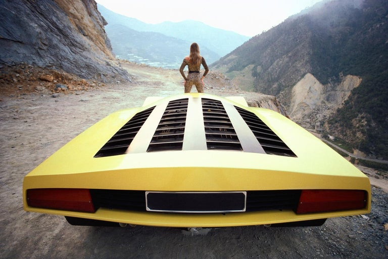 Rainer Schlegelmilch Landscape Photograph - 'Yellow 1970s Concept Car'   Rainer W. Schlegelmilch Archive Limited Edition