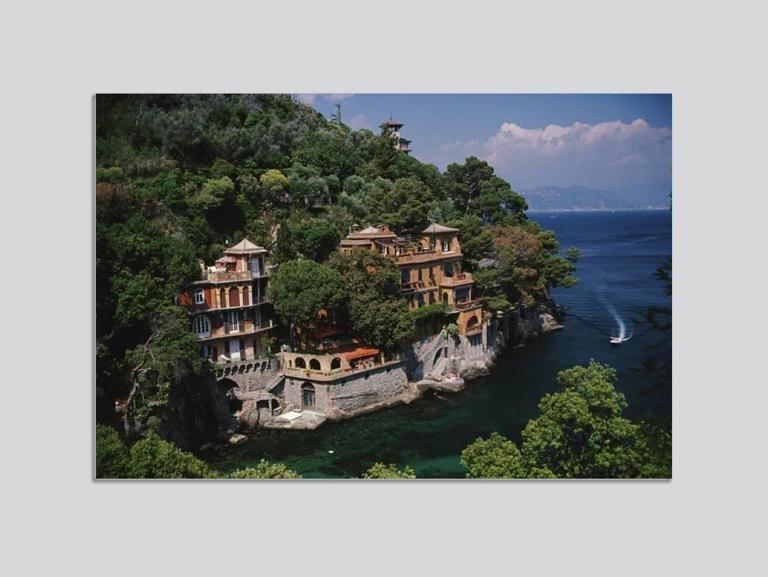 Slim Aarons Color Photograph - 'Portofino' Italy (Perspex face mounted Aluminium Dibond)