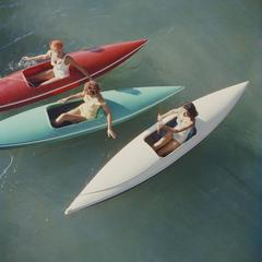 'Lake Tahoe Canoes' (Slim Aarons Estate Edition)