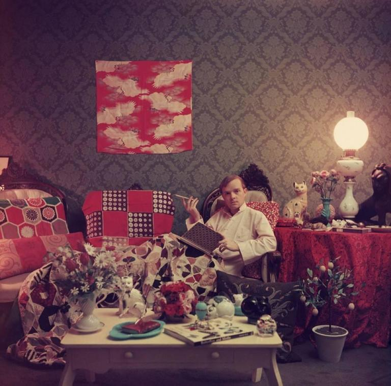 'Capote At Home' **SIGNED** limited edition Slim Aarons print