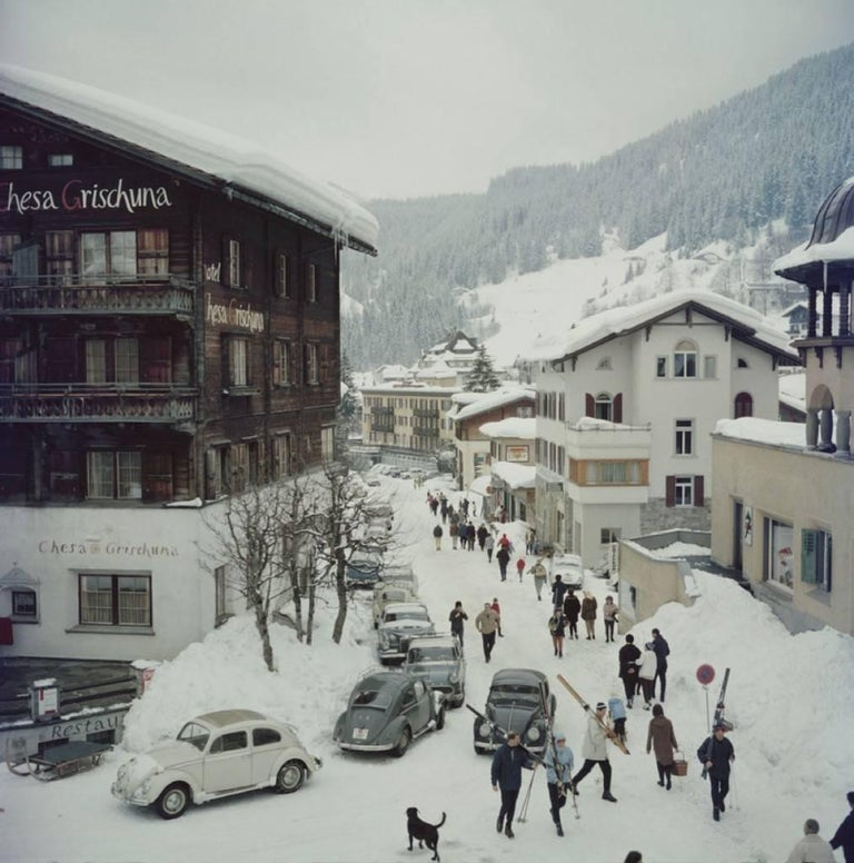 Slim Aarons Color Photograph - 'Klosters' Switzerland (Estate Stamped Edition)