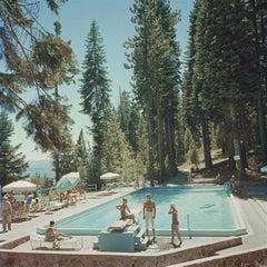 'Pool At Lake Tahoe' Slim Aarons Estate Stamped Edition