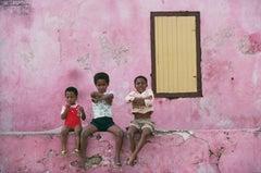 'Curacao Children' Antilles 1979  (Slim Aarons Estate Edition)
