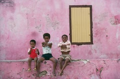 'Curacao Children' Antilles 1979  (Slim Aarons Estate Stamped Edition)