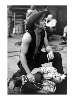 'James Dean Liz Taylor Round Up' Limited Edition silver gelatin print
