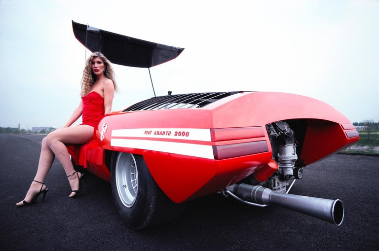 Rainer Schlegelmilch Color Photograph - 'Red Hot Abarth 2000'   Rainer W. Schlegelmilch Archive Limited Edition