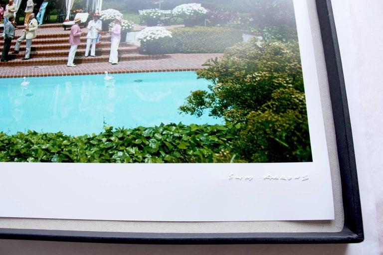 'Monte Carlo Pool' 1975 (Slim Aarons Estate Edition) - Gray Color Photograph by Slim Aarons