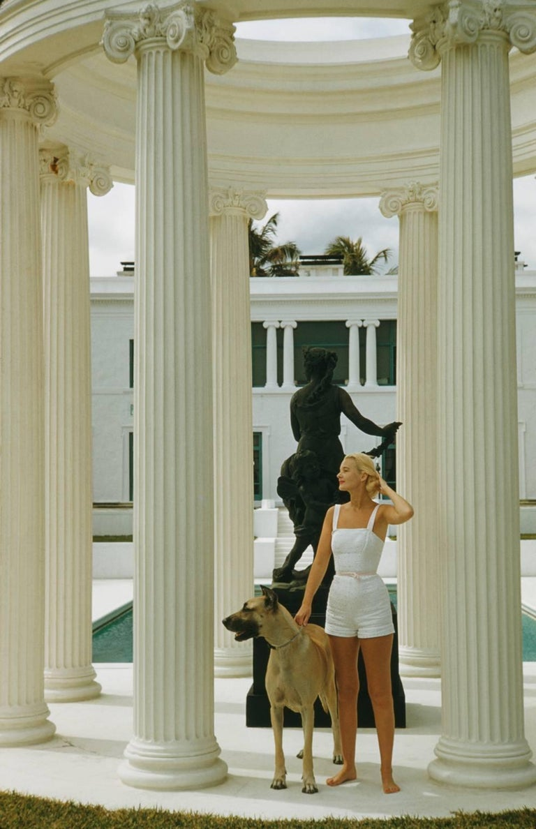 Slim Aarons Color Photograph - 'C. Z. Guest' Palm Beach SLIM AARONS ESTATE EDITION