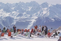 Slim Aarons - Lounging In Verbier 20th century photography landscape figurative