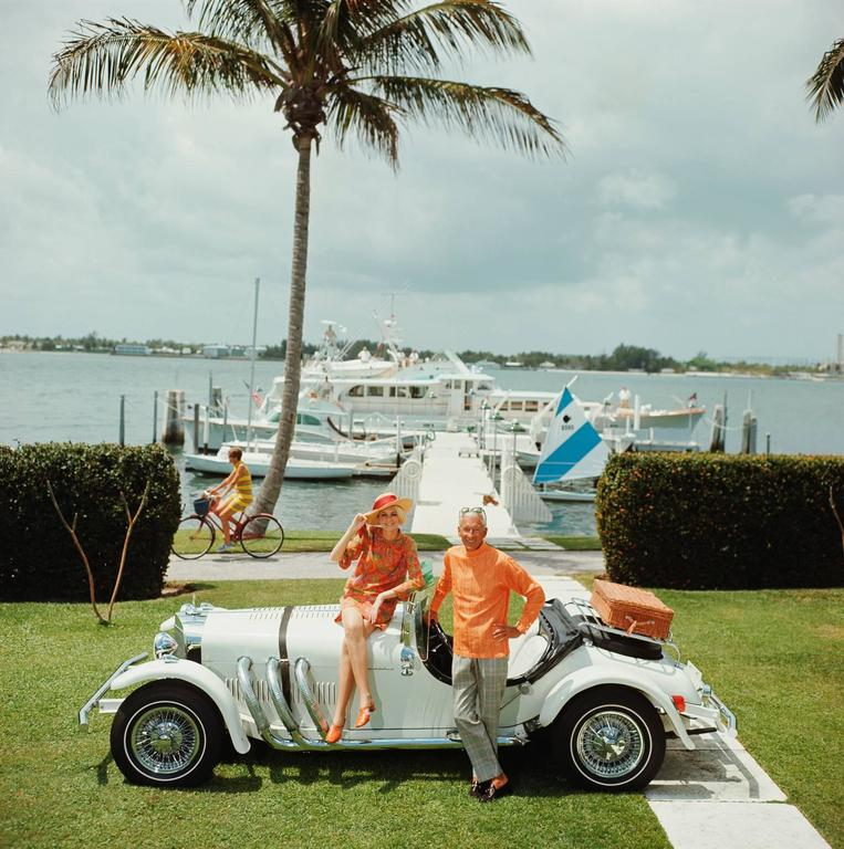 'All Mine' Lake Worth 1968 (Perspex face mounted Aluminium Dibond) - Photograph by Slim Aarons