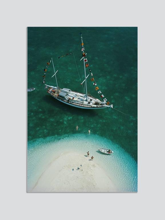 Slim Aarons Color Photograph - 'Exuma Holiday' Bahamas 1964  (Perspex face mounted Aluminium Dibond)