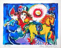 Carousel Horse with Musicians